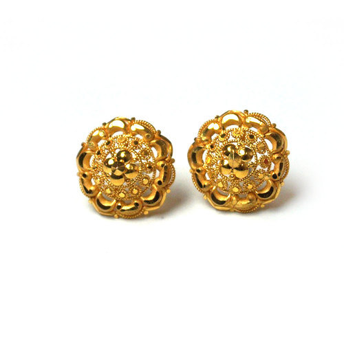 women modern exquisite earrings simple plated beautiful vintage studs jewelry design colour leaves gold metal item for
