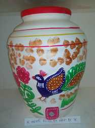 Clay Water Pot Balaji Peacock 18t