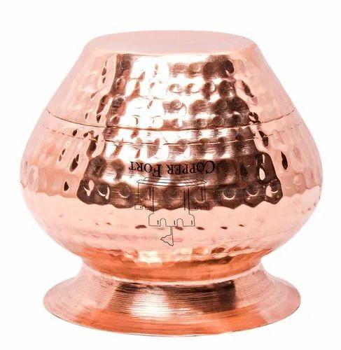 Copper Fort Pure Copper Mini Jal Patra for Home, Temple Use, Small Size  Copper Patra, 150 ML