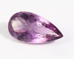 Pear Cut Natural Purple Amethyst Stone