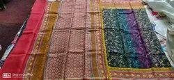 Moonga Silk Printed Saree