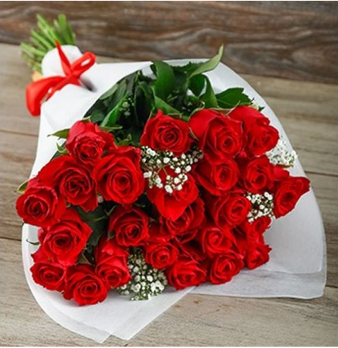 25 Rose Bouquet & White Cute Lord Krishna Authorized Retail