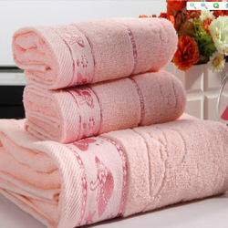 Cotton Printed Jacquard Towels for Hotels with Wovel Logo, For Bathroom
