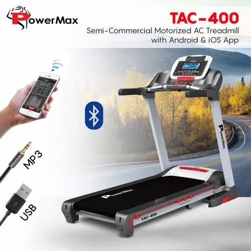Powermax Tac 400 Semi Commercial Motorized Ac Treadmill With Android & Ios  App