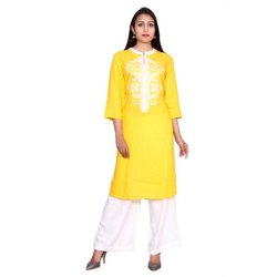 Rayon Embroidered Kurta