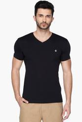 Mens V Neck Solid T Shirt