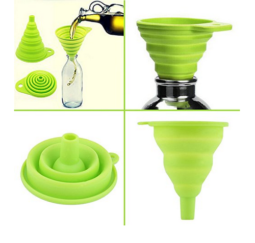 collapsible and easy to store silicone funnel for kitchen - Kitchen Funnel