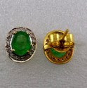 Zambian Emerald Ear Studs