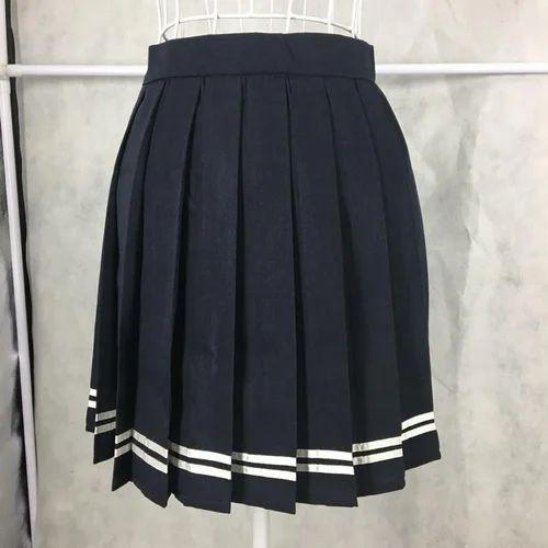 Black Plain School Girl Skirt 2ed71ad27860