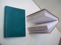 Green Mandala Embossed Handmade Leather Journal