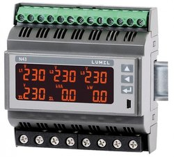 Lumel N43 Rail Mounted 3-Phase Power Network Meter