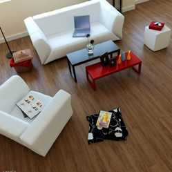 Idzines Brown PVC Wooden Finish Flooring, For Commercial, Thickness (Millimeter): 4 Mm