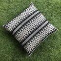 Black Geometrical Embroidered Cushion