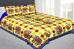 Jaipuri Cotton Bed Sheet Elephant Print