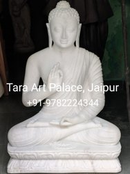 Natural White Marble Buddha Statue