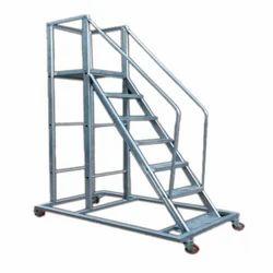 HD Aluminum Trolley Step Ladder