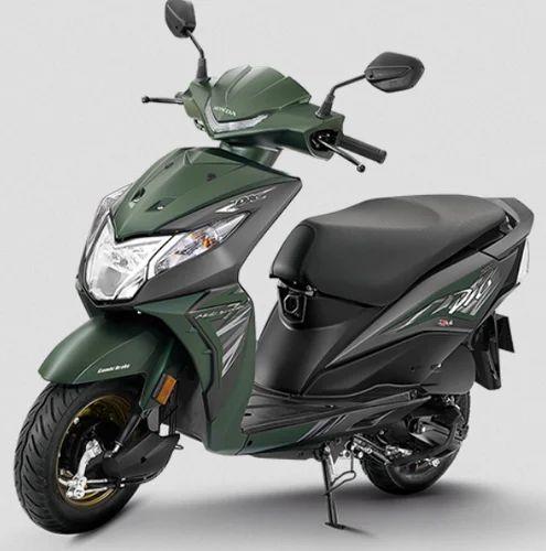 Matte Marshal Green Metallic Honda Dio Scooter
