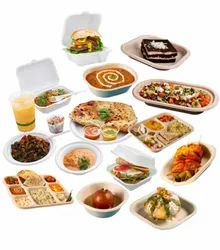 White India Bagasse Sugarcane Disposable Food Plates, Packaging Type: Box