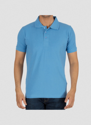 Cotton Plain Men Light Blue T-shirt