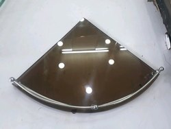 Brown Conical Glass Shelf