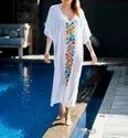 Mexican Bird Kaftan Dress