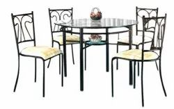 Decorative Dimensions: 3' X 3' Metal Dinning Table
