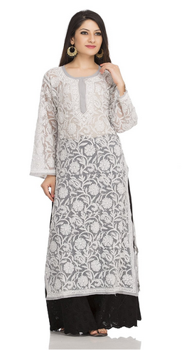 c801f6bbd6 A105268 Handmade Traditional Casual Georgette Long Kurti, Georgette ...