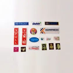 Multicolor Epoxy Printed Dome Sticker, Packaging Type: Box