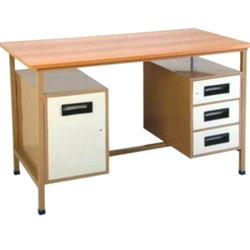 Wooden Rectangular Executive Desk