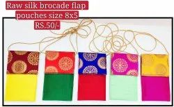 SILK BROCADE FLAP POUCH