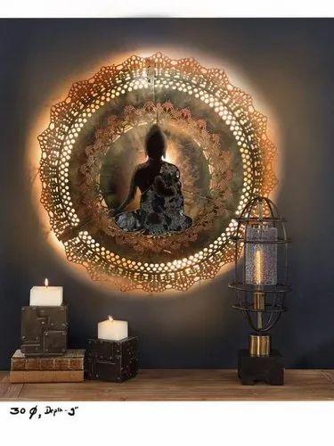 Buddha Metal Wall Art, Metal Wall Decoration, Walls Metal Artwork