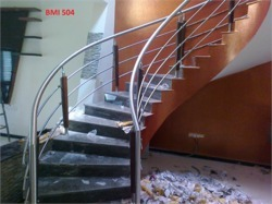 Bar And Spiral SS Spiral Railing