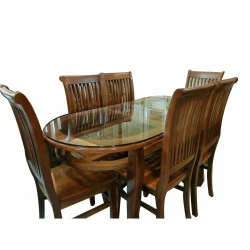 Wondrous Glass Top Teakwood Dining Table Set Download Free Architecture Designs Scobabritishbridgeorg