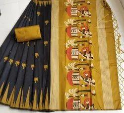Fancy Khadi Silk Indian Wear Saree
