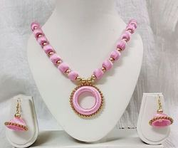 Doughnut Silk Thread Handmade Jewellery Necklace
