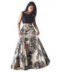 Party Wear Chiffon Ladies Printed Lehenga Choli