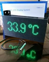 Human Body Infrared Temperature Display