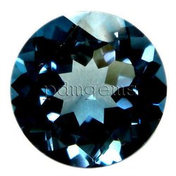 London Blue Topaz Round Cut Gemstone