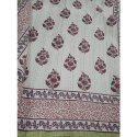 Printed Pure Cotton Bed Sheet Hand Block Printing Services, Type: Double