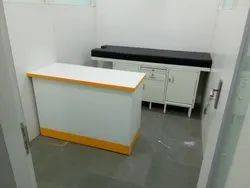 Mild Steel Doctor Table & Examination Table, Fix, L 6' 2 X D 2' 2 X H 36