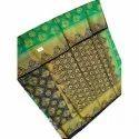 Green Balatan Saree With Blouse Piece
