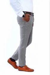 Men\'s Grey Casual Pant