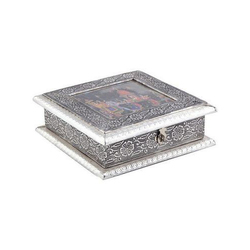 Multicolor German Silver Handicraft Dry Fruit Box, for Dry Fruits