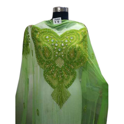 352a1aa7d5c8c5 Unstitched Net Green Beaded Lace Blouse, Size: 1.5 Meter, Rs 1300 ...