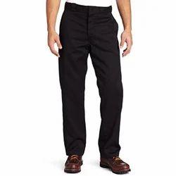 Cotton Casual Wear Mens Formal Black Pant, Machine Wash,Hand Wash