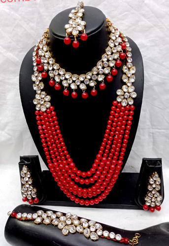 White Red Bridal Kundan Jewellery Set Rs 700 Piece Newvent