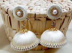 Party Wear Silk Thread Jhumka