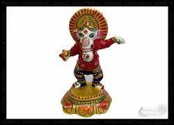 Metal Dancing Ganesh Enamel