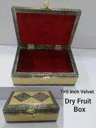 7x5 inch Velvet Dry Fruit Box