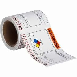 GHS and NFPA Labels With Die-Cut GHS Pictos-Write On